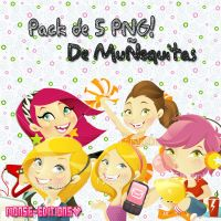 Pack Munequitas PNG en Archivo.ZIP by Monse-Editions