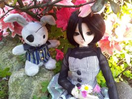 Rukia BJD - Sunny afternoon with Chappy by AngyValentine