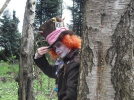The Mad Hatter lurks by PC-IchabodCrane
