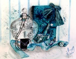 Turquoise Still Life by Amme-Hsuor