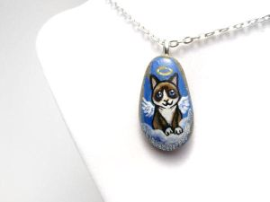 Snowshoe Cat Pendant Necklace by sobeyondthis