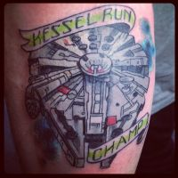 Millenium Falcon Tattoo by Green-Jet