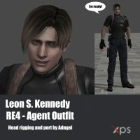 Leon S Kennedy RE4 Agent Outfit by Adngel
