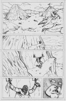 Space Ghost page 1 pencils by CrimeRoyale