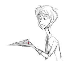 Paperman sketch by Foreveryoung8