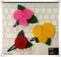 Flowers Hair Clip... by SongAhIn
