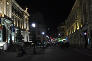 night over old Bucharest by Rikitza