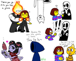 Undertale - Monsters by KGN-000