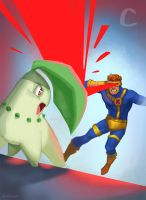 C for Cyclops and Chikorita by ChateNoire