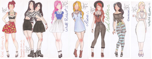 Alice in Wonderland Fashion by VianaDrawings