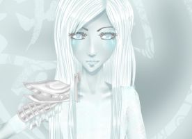 The Ice Queen: face Close up by c-e-p-h