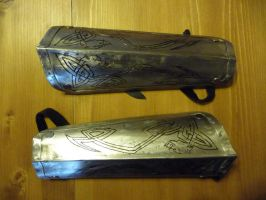 Viking's light Bracers by Bear-Crafter