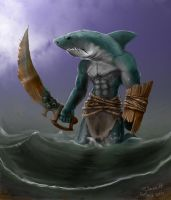 Sharkman by SimonSaysBaka