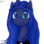 Princess Luna's new manestyle 5 by katkakakao