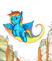 Rainbow Dash commission. by dreamingnoctis