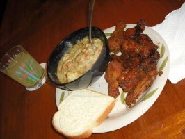 Clam Chowder Stew with Oven Baked Wings by Black-Destiny