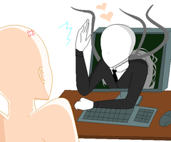 Playing Slender Collab by Sura96