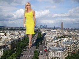 Leven Rambin on a Paris boulevard by Maidenpool
