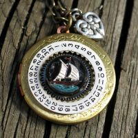 Steampunk Pirate's Locket by clockwork-zero