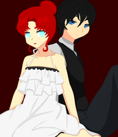 Young Catalina and Tyki by SenSparda18