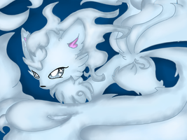 Alolan Ninetails by Onlinesafety222