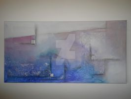 Blue Fog - Abstract by HiMo-Paintings
