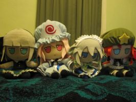 My Sakura Con 2013 touhou plushies that are going by jay421501