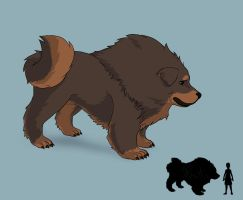 Grizzly Dog (Tibetan Mastiff) by SillySinz