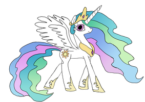 Princess Celestia by WaggonerCartoons