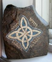 Witch's Knot altar stone by morgandria