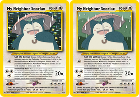 My Neighbor Snorlax - Fake Card by icycatelf