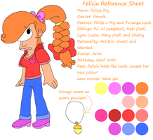 Felicia Reference Sheet by HeartinaThePony