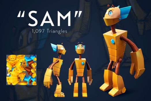 Sam - 3D Render by Urnam-BOT