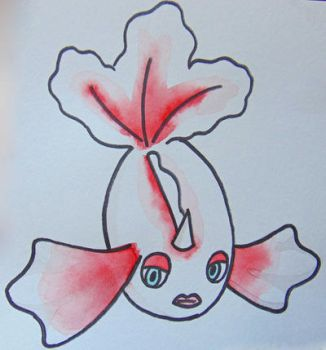 Watercolor Goldeen by SolarCrush