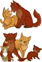 Firestar's Family by creanima