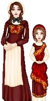 Hester Prynne and Pearl by elavoria