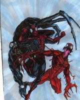 Spiderman vs Venom vs Carnage by freaky7styley
