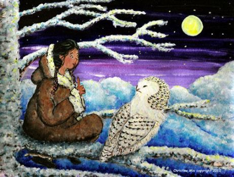 Snowy Owl Magic, by Christine Mix by ChrisMixArt