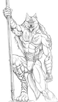 Wolf Barbarian by WolfLSI