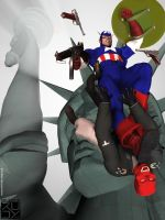 Captain America's 65th by CWRudy
