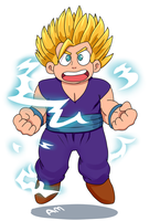super saiyan Steven by AngeliccMadness