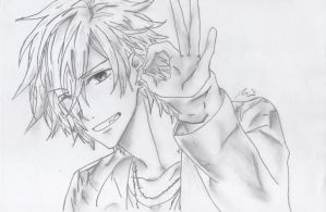 Drawing - Brother Conflict - Tsubaki by SouzouRinkan