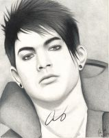 Adam Lambert Drawing Signed by santabillie