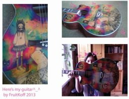 .painted guitar *^*. by FruitKoffein