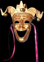 Golden Jester Comedy Mask by FantasyStock