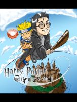 Harry Potter and Naruto by burning-pencil