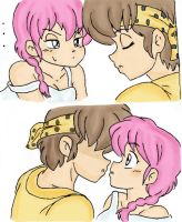 Ryoga x Ranma kiss? Color by Kimbawest