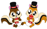 Baby Chip and Dale by Bokeol