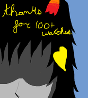 THANKS FOR 100 + watchers by OneLoveOneFate