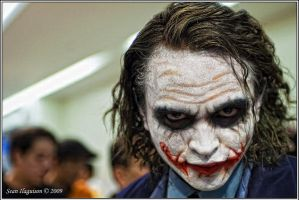 The legendary Joker cosplayer by Iaaaaaaaaaan
